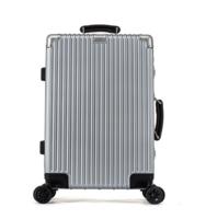 2018新品登机箱24寸铝框密码锁万向轮拉杆箱PC拉杆行李箱