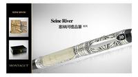 M12402塞纳河象牙银丝编织白金夹14K金笔